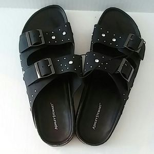Black Jeweled Sandal